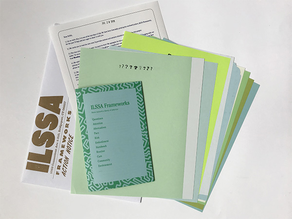 ILSSA implement forms and return envelope